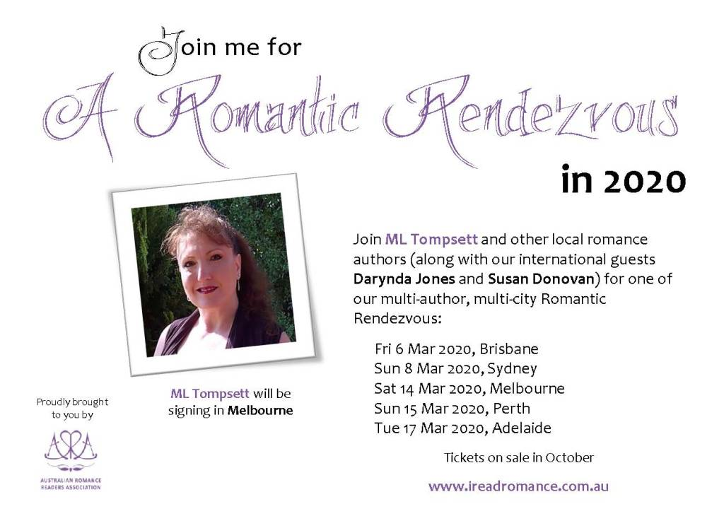 Romance Author Signing Events 2020.Events M L Tompsett Author